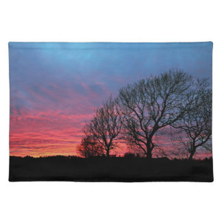 Sunset with rode sky placemats
