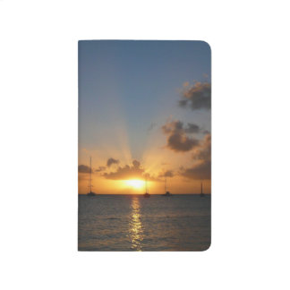 Sunset with Sailboats Tropical Landscape Photo Journal