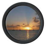 Sunset with Sailboats Tropical Landscape Photo Poker Chips
