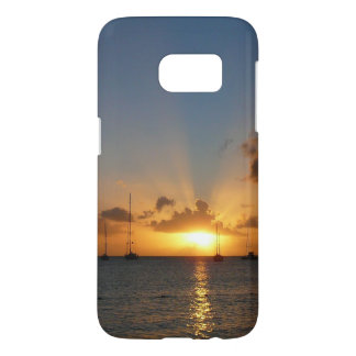 Sunset with Sailboats Tropical Landscape Photo Samsung Galaxy S7 Case