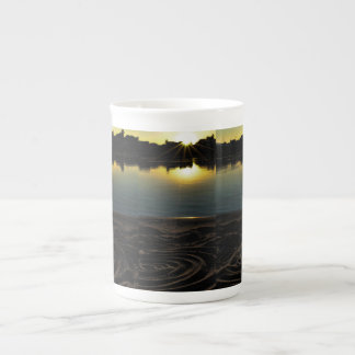 Sunset With Sand On The Wisconsin River Tea Cup