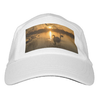 Sunset with Swan Headsweats Hat