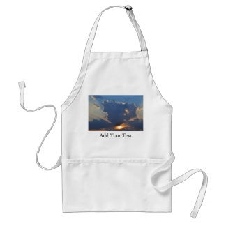 Sunset With Teacup Cloud Formation Adult Apron