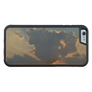 Sunset with Teacup Cloud Formation by STaylor Carved® Maple iPhone 6 Bumper Case