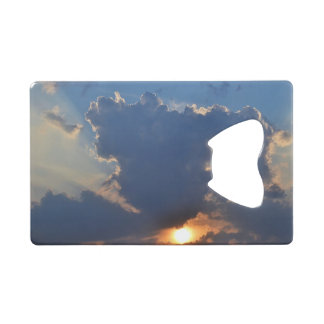 Sunset with Teacup Cloud Formation by STaylor Credit Card Bottle Opener