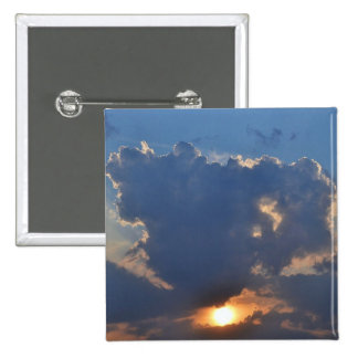 Sunset with Teacup Cloud Formation by STaylor Pinback Button
