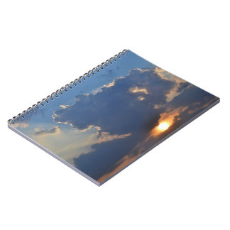 Sunset with Teacup Cloud Formation by STaylor Spiral Notebook
