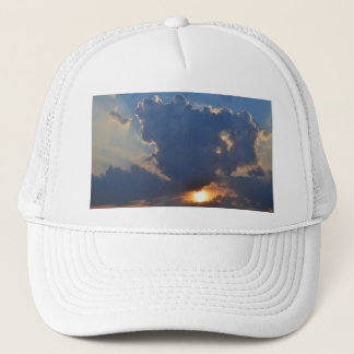 Sunset with Teacup Cloud Formation by STaylor Trucker Hat