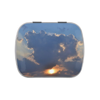 Sunset With Teacup Cloud Formation Jelly Belly Candy Tin