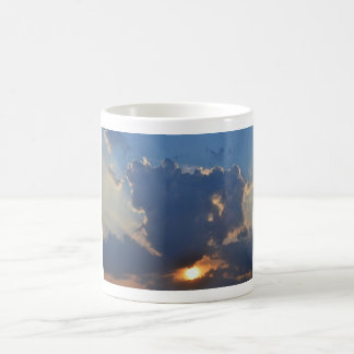 Sunset With Teacup Cloud Formation Classic White Coffee Mug