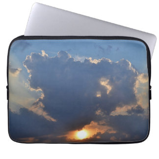 Sunset With Teacup Cloud Formation Laptop Sleeve