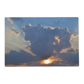 Sunset With Teacup Cloud Formation Laminated Placemat