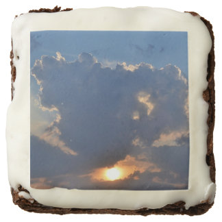 Sunset With Teacup Cloud Formation Square Brownie
