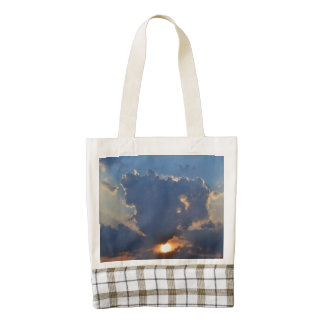 Sunset With Teacup Cloud Formation Zazzle HEART Tote Bag