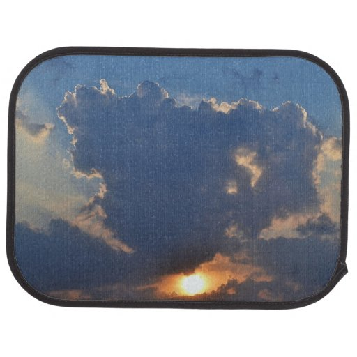 Sunset With Teacup Cloud Formation Car Mat