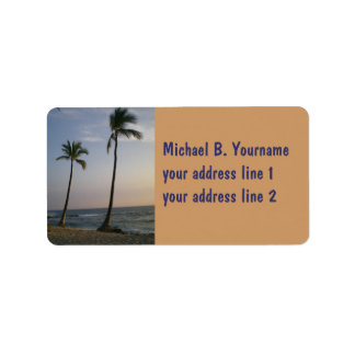 Sunset With Trade Winds Personalized Address Label