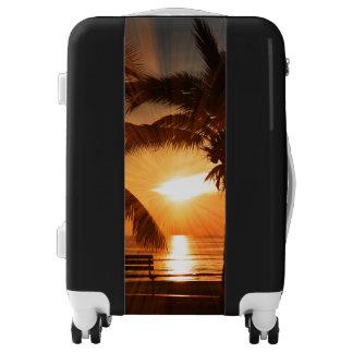 Sunset with Travel Style Luggage