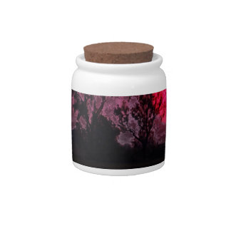 Sunset With Tree Candy Jar