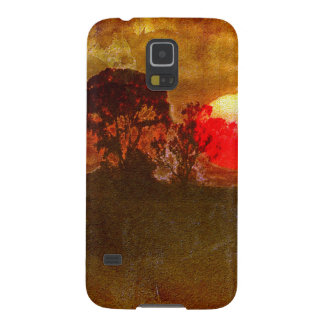 Sunset With Tree Case For Galaxy S5