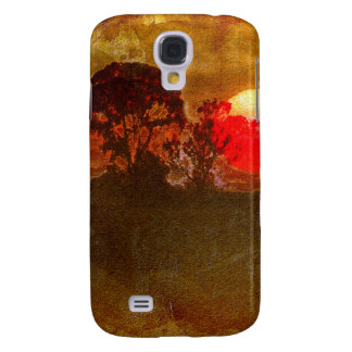 Sunset With Tree Galaxy S4 Cases