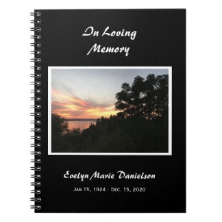Sunset With Tree Memorial or Funeral Guest Book