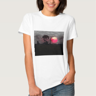 Sunset With Tree T Shirt