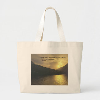 Sunset with Verse Tote Bags