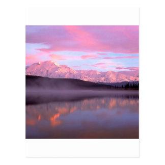 Sunset Wonder Lake Mount Denali Postcard