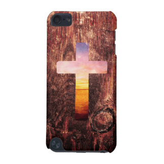 Sunset wood cross iPod touch 5G covers