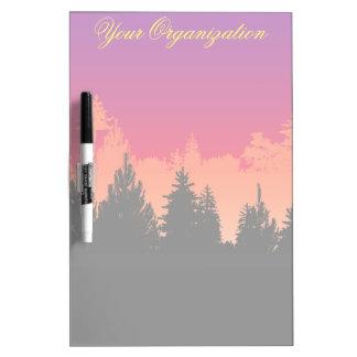 Sunset Woods Dry Erase Board