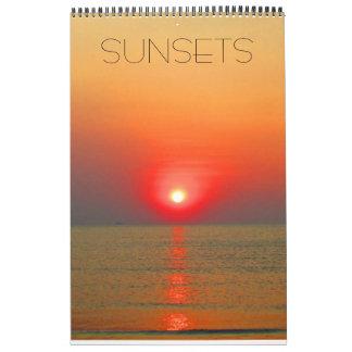 sunset world calendar