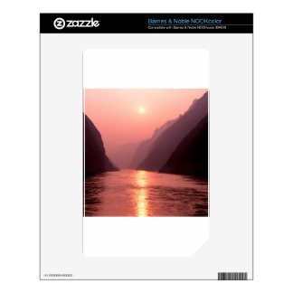 Sunset Wu Gorge Yangtze River China Decal For The NOOK Color