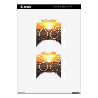 SUNSET XBOX 360 CONTROLLER SKIN
