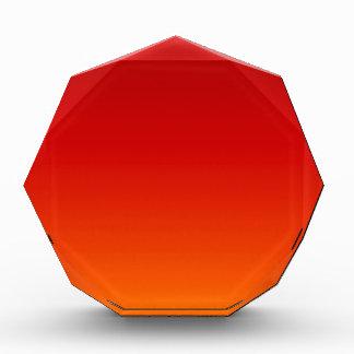 SUNSET (yellow orange evening color fade) ~ Acrylic Award