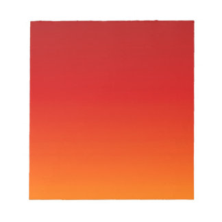 SUNSET (yellow orange evening color fade) ~ Notepad