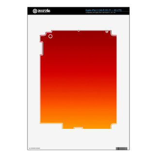 SUNSET (yellow orange evening color fade) ~ Skins For iPad 3