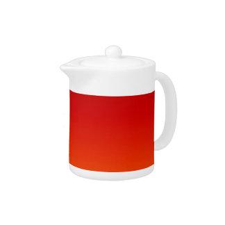 SUNSET (yellow orange evening color fade) ~ Teapot