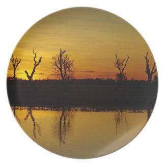 Sunset, Yellow Water Billabong 2 Plate