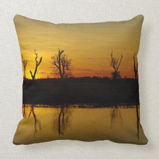 Sunset, Yellow Water Billabong 2 Throw Pillow