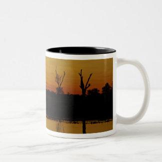Sunset, Yellow Water Billabong 2 Two-Tone Coffee Mug