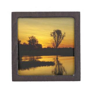 Sunset, Yellow Water Billabong 3 Keepsake Box