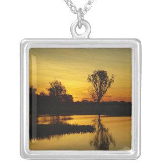 Sunset, Yellow Water Billabong 3 Custom Jewelry