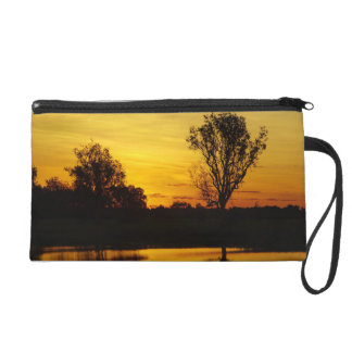 Sunset, Yellow Water Billabong 3 Wristlet