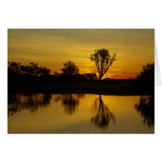 Sunset, Yellow Water Billabong Card