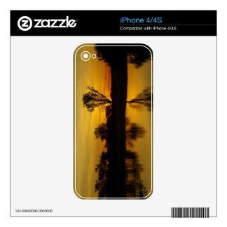 Sunset, Yellow Water Billabong Decal For iPhone 4