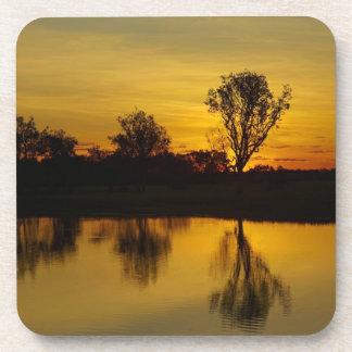 Sunset, Yellow Water Billabong Drink Coaster