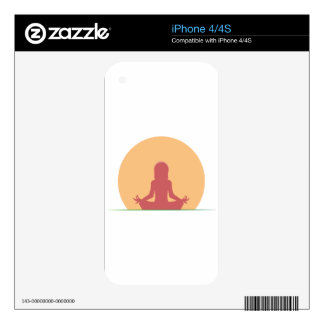 Sunset Yoga Serenity iPhone 4S Decal