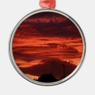 Sunset Yorkshire landscape Metal Ornament