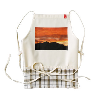 Sunset Zazzle HEART Apron