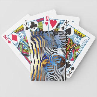 sunset zebra playing cards